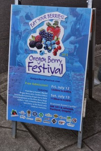 oregon berry festival sign